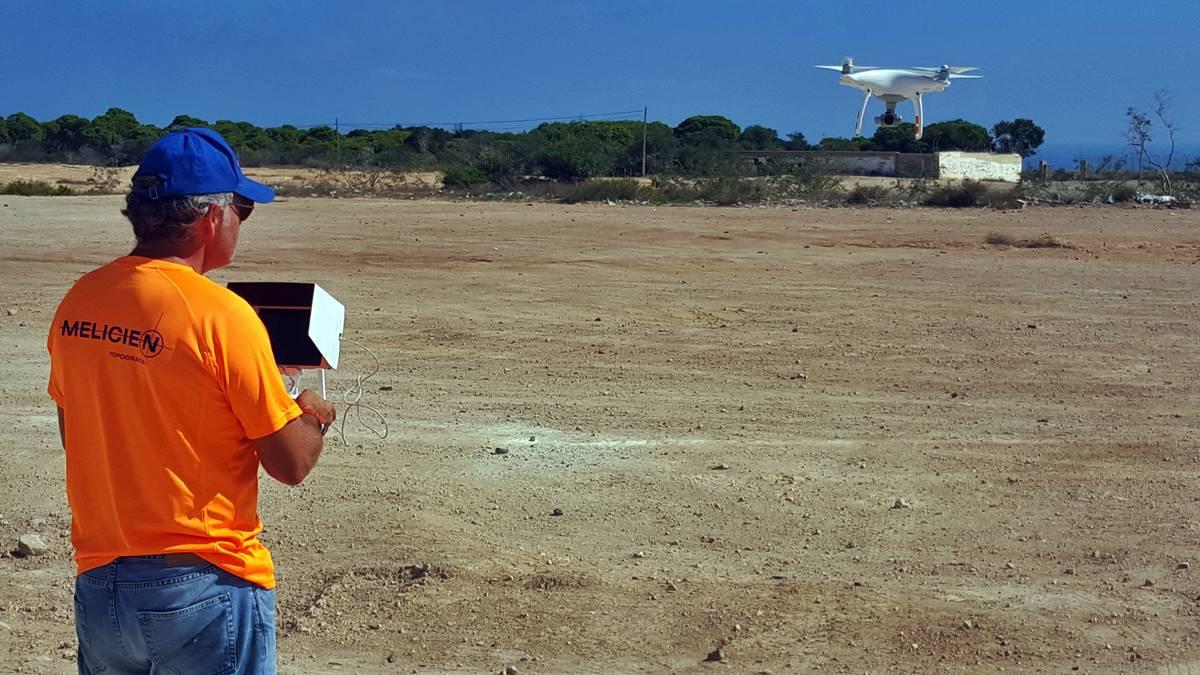 Melicien - Trabajos de topografía, Batimetría y con dron en Melilla